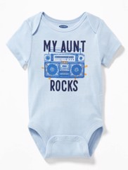 [11-12kg] Bodysuit Old Navy [Boy] - Xanh Biển/My Aunt
