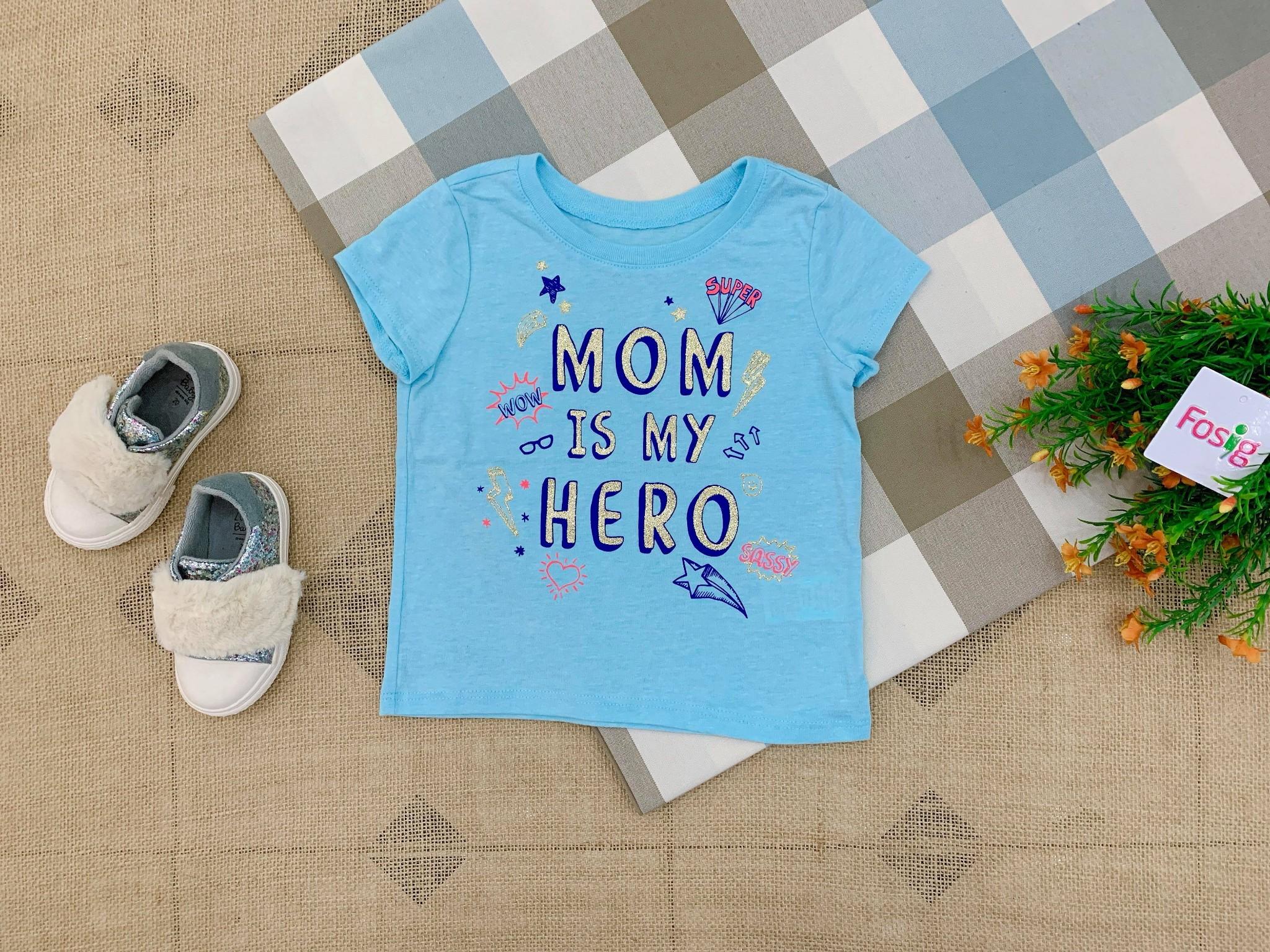 Áo Thun Place 85 [Girl] - Xanh Biển/Mom Is My Hero
