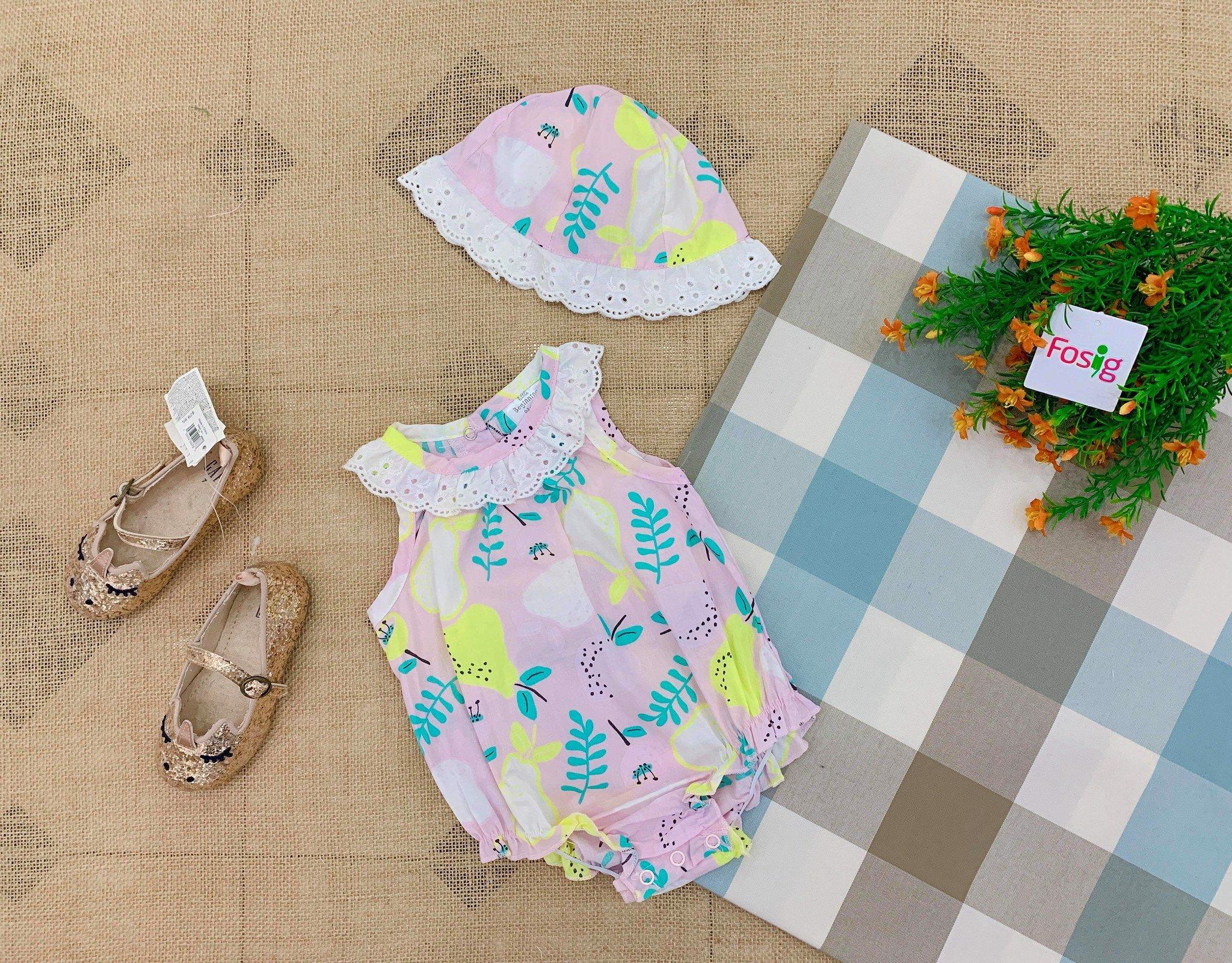 [4-7kg] -Set 2 Bodysuit Little Beginnings [Girl] - Hồng/Trái Lê