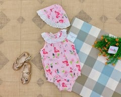 Set 2 Bodysuit Little Beginnings [Girl] - Hồng/Hạc