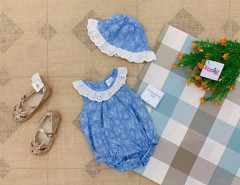 Set 2 Bodysuit Little Beginnings [Girl] - Xanh/Bướm