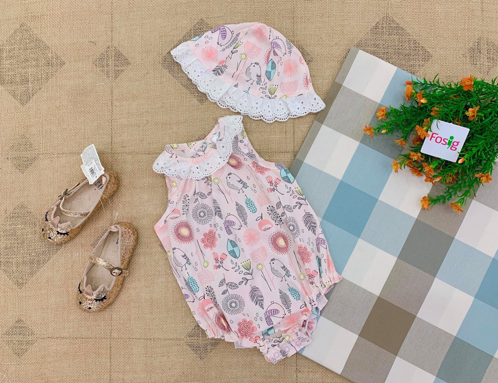 Set 2 Bodysuit Little Beginnings [Girl] - Hồng Nhạt/Hoa/Chim