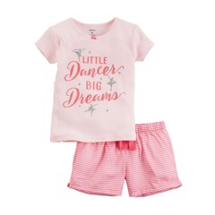 [6-15kg]  Đồ Bộ Carter's 02 [Girl] - Hồng Nhạt/Little Dancer Big Dreams
