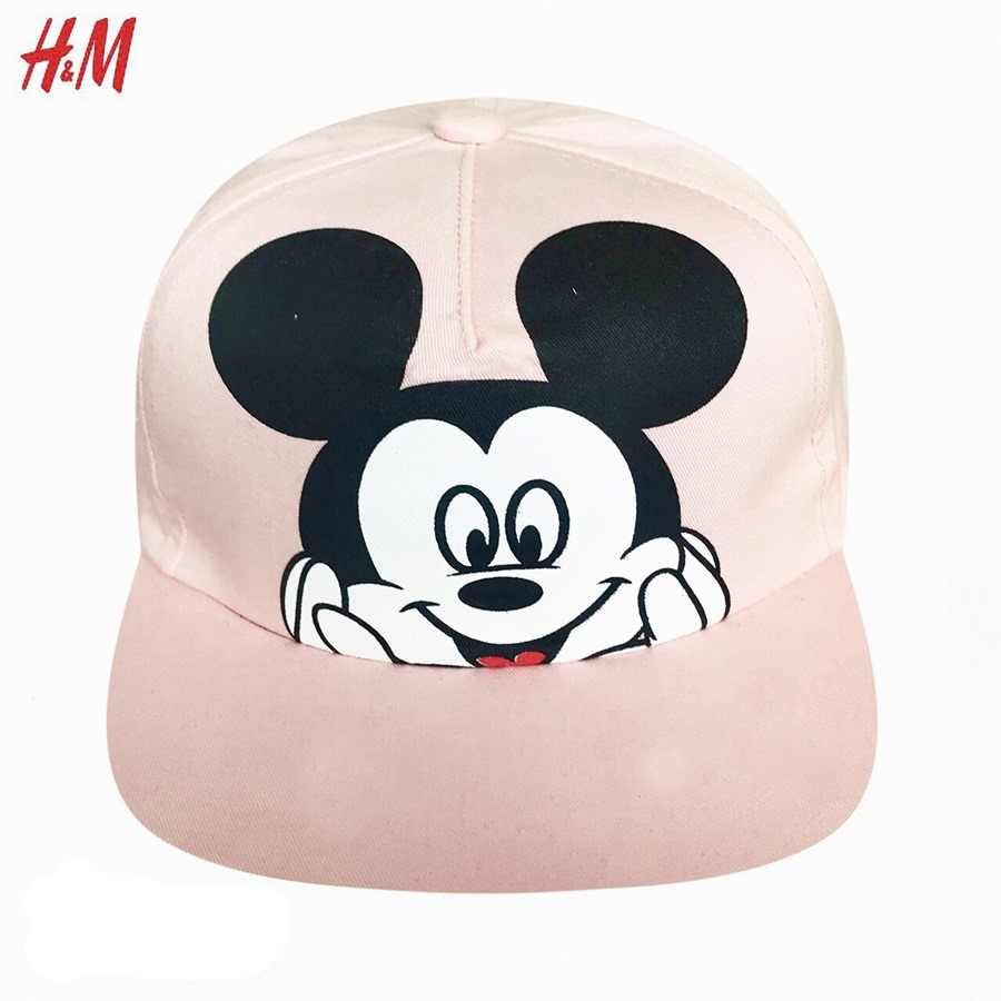 Nón H&M BaBy Girl - Hồng/Mickey