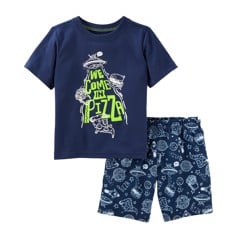[13-15kg] Đồ Bộ Oshkosh 02 [Boy] - Xanh Navy/We Come In Pizza