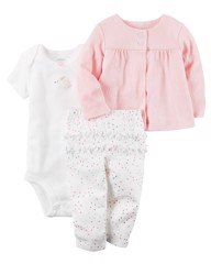 [3-6,5kg] Set 3 Carter's [Rabbit] - White/Pink