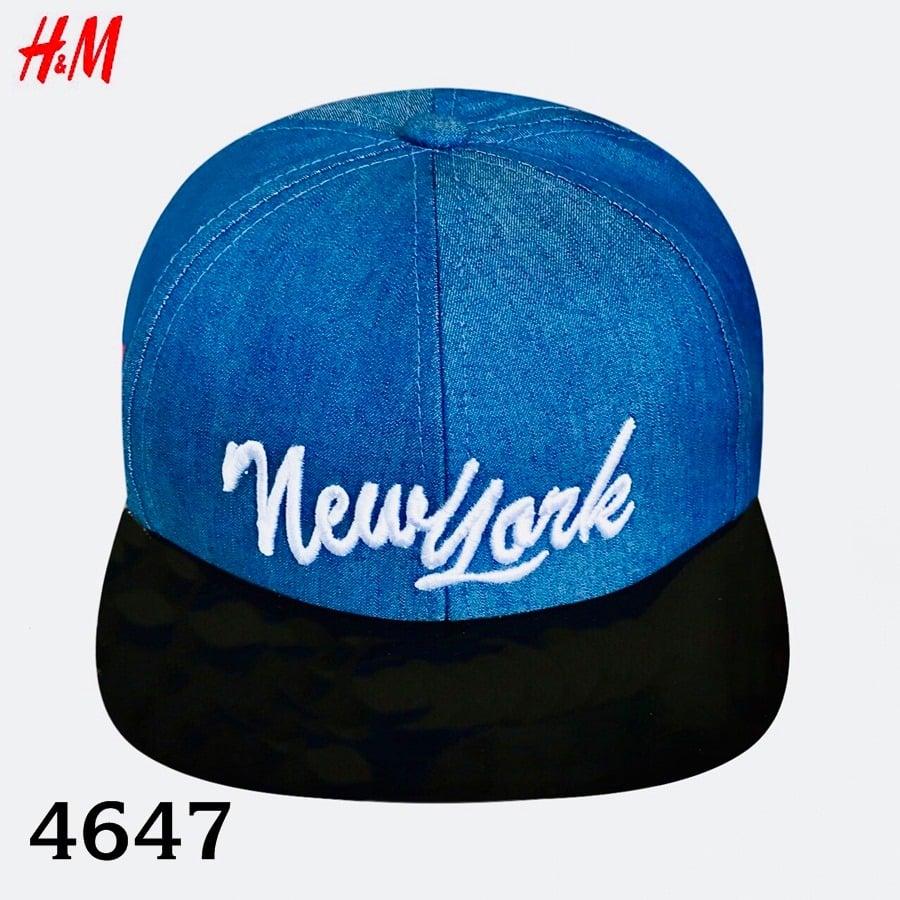 Nón H&M BaBy Boy - Xanh Navy/New York