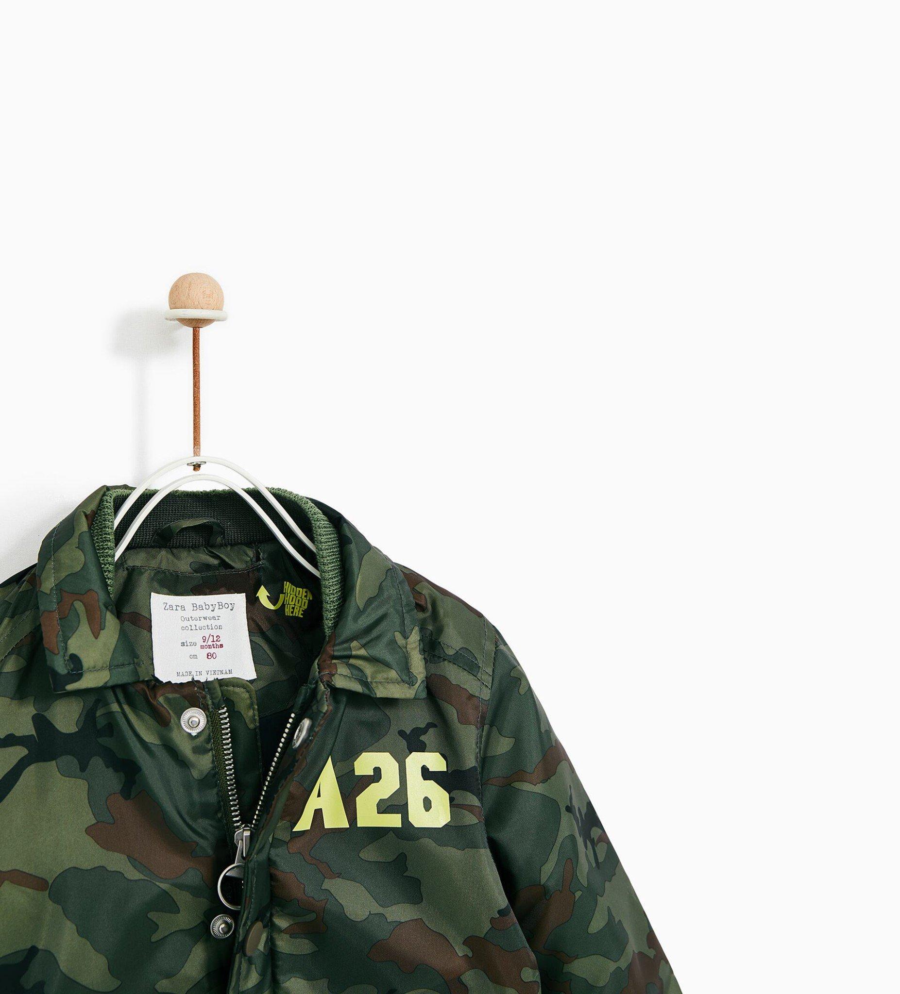 [14-19kg] Áo Khoác Phao Zara A6 [Boy] - Rằn Ri