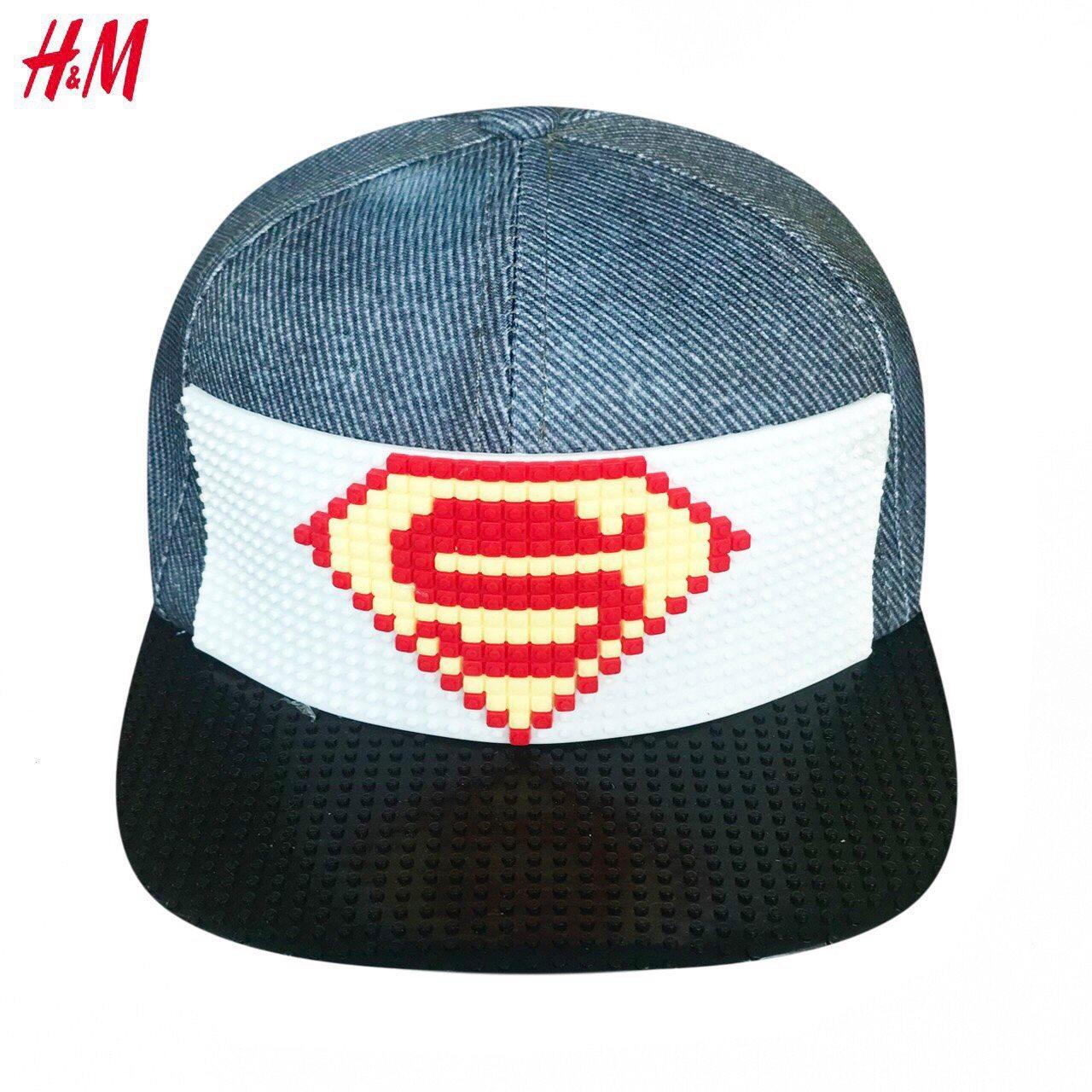 Nón H&M BaBy Boy - Xanh Jean/Superman