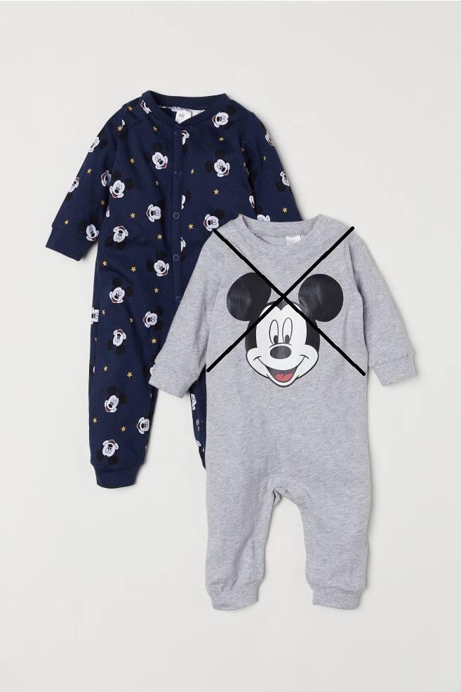 Sleepsuit H&M 811 - Xanh Navy/Mickey [Không Vớ]