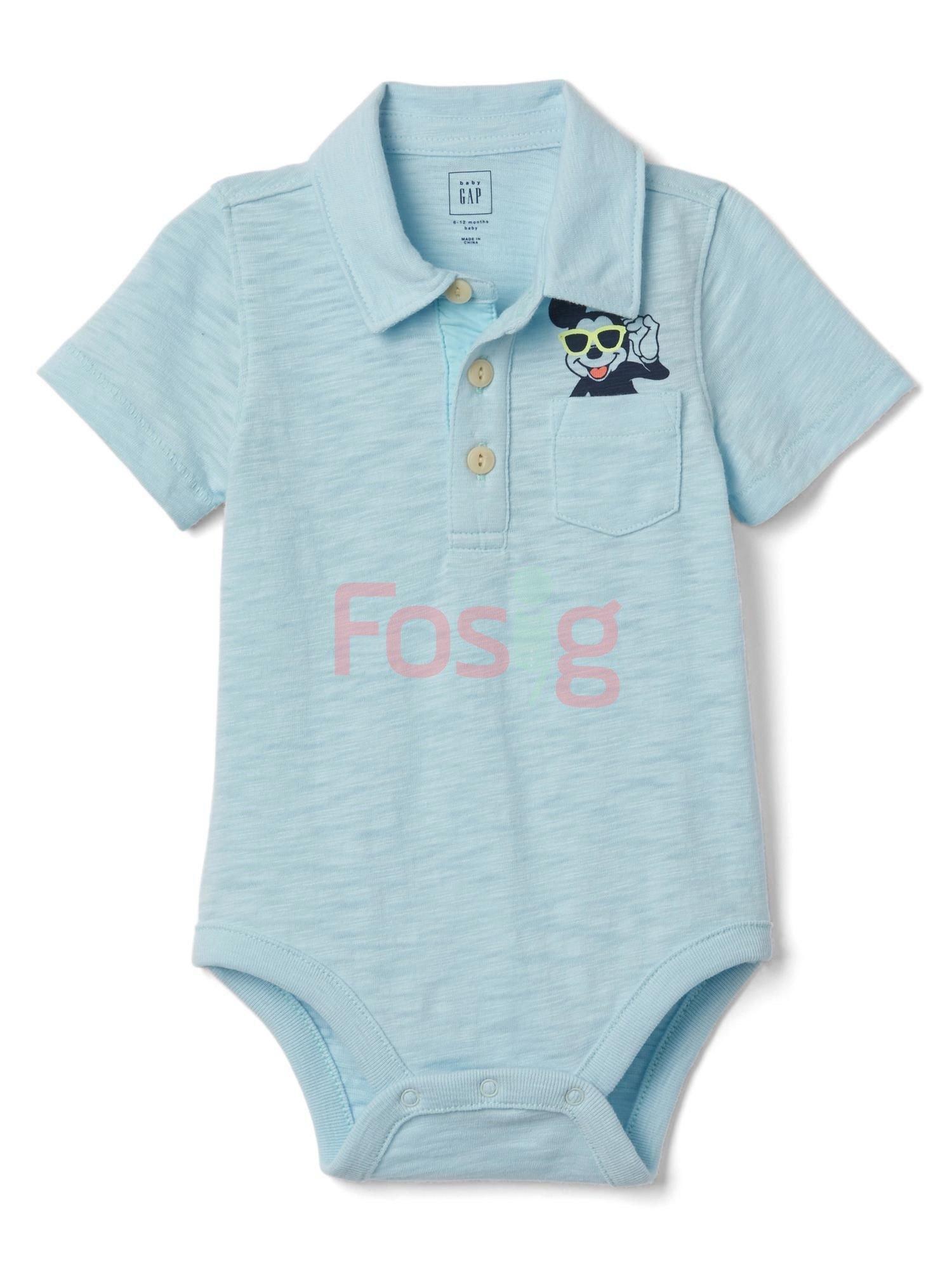 [13-14kg] Bodysuit Baby Gap 81 [Boy] - Xanh Trời/Mickey