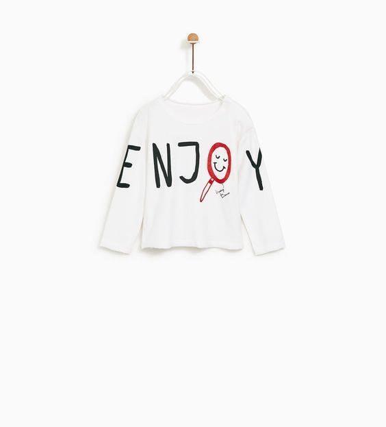 [9-13kg] Áo Thun Zara [Boy] - Trắng/NJ [Tay Dài]