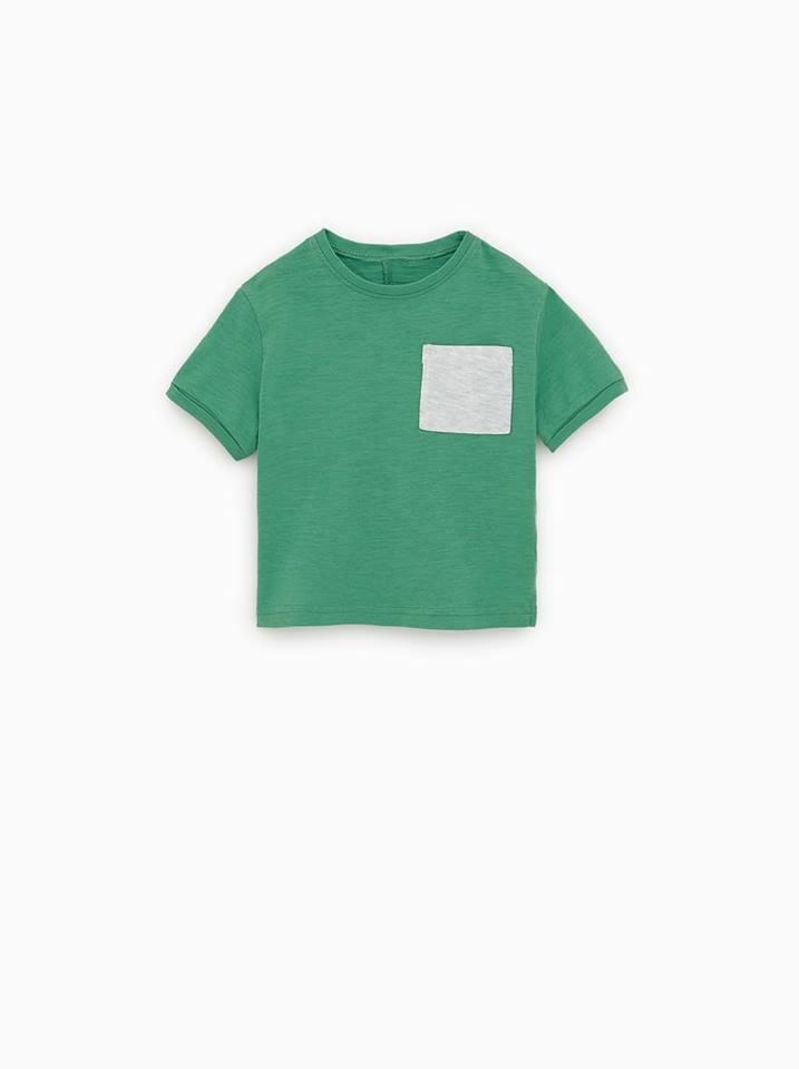[5-13kg] Áo Thun Zara BaBy Boy - Xanh Lá/Túi Xám