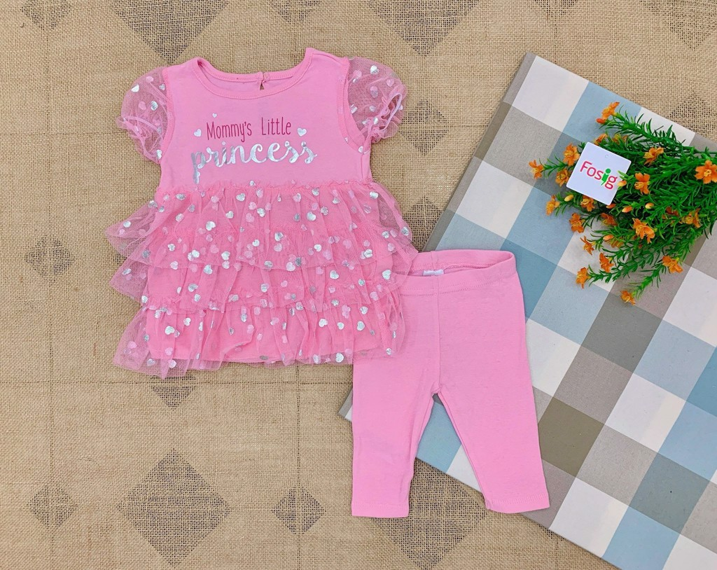 Set 2 Mini.B 010 [Girl] - Hồng/Mommy's [Quần Legging]