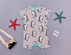 [6-8kg] Body Đùi Romper Đùi Next BaBy 04 [Boy] - Xám/Khủng Long