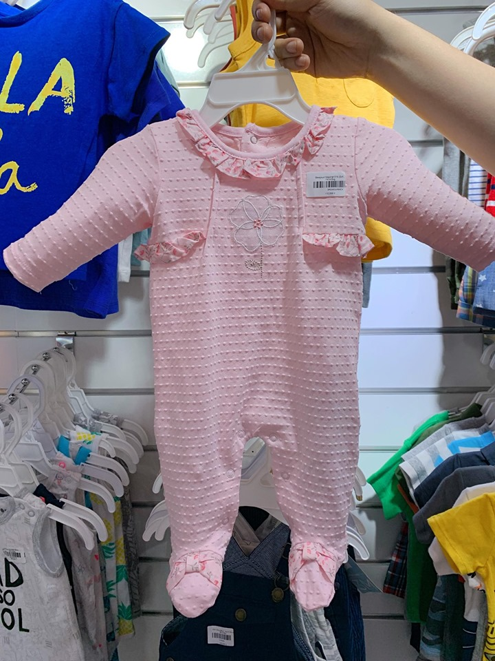 Sleepsuit Mayoral 016 [Girl&Boy] - Hồng Nhạt/Hoa [CV]