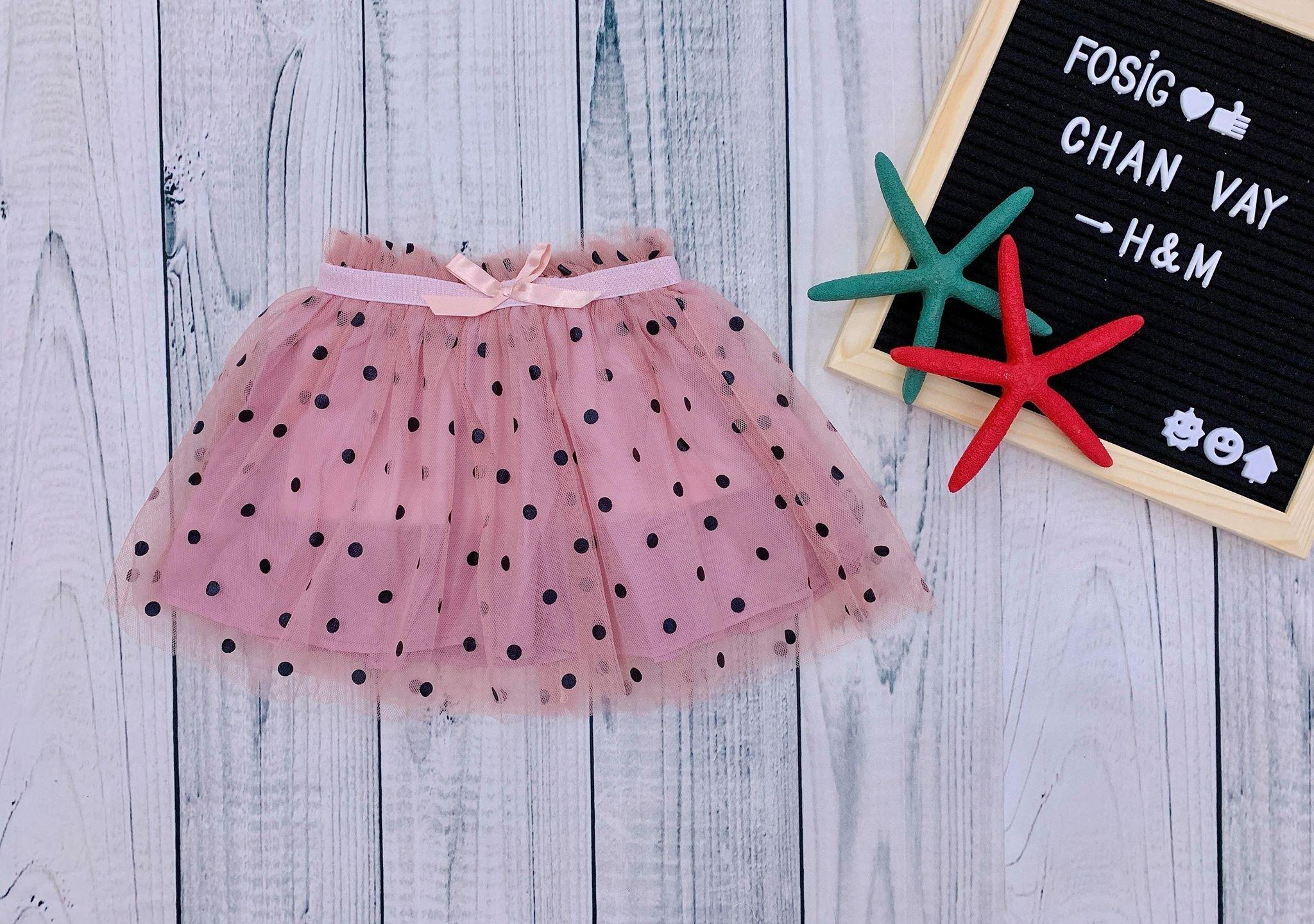 [8-17kg] Chân Váy H&M [Girl] - Hồng/Chấm Bi