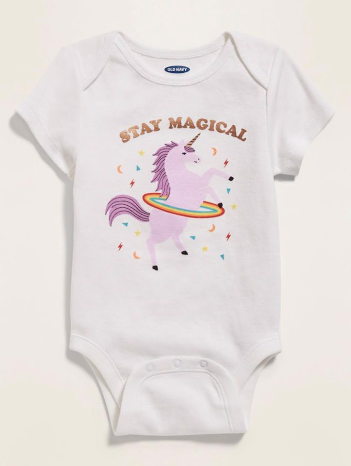 [4-5kg] Bodysuit Old Navy [Girl] - Trắng/Stay Magica