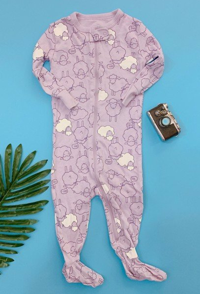 [10-13kg] Sleepsuit Old Navy [Girl] - Tím/Cừu