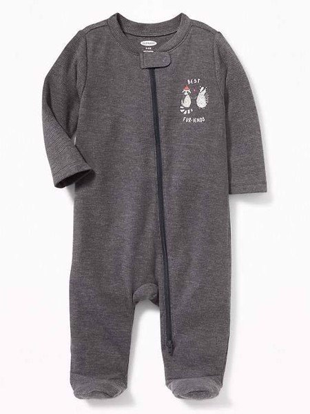 [4-7kg] Sleepsuit Old Navy [Boy] - Xám Đen/Best