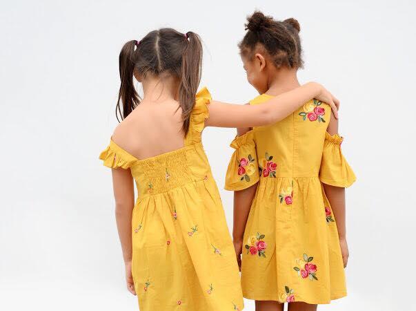 Đầm Zara Rớt Vai [Girl] - Vàng/Hoa