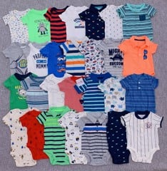 [4-13kg] Set 4 Bodysuit Carter's [Boy] - Random