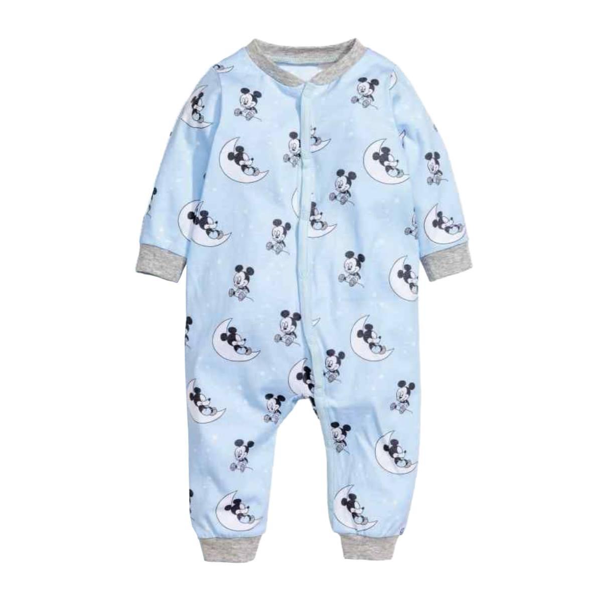 [9-12kg] Sleepsuit H&M [Boy] - Xanh Dương/Mickey [Có vớ]