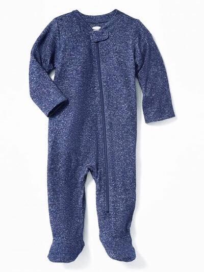 [4-7kg] Sleepsuit Old Navy 22 [Boy] - Xanh Navy Nỉ [Có Vớ]