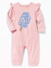 [8-9kg] Sleepsuit Old Navy 22 [Girl] - Hồng/My Pop