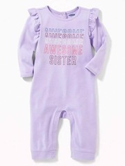 [4-6kg; 8-9kg] Sleepsuit Old Navy 22 [Girl] - Tím/Awesome