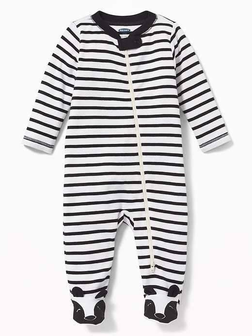 [3-7kg] Sleepsuit Old Navy 22 [Boy] - Trắng/Sọc Đen [Có Vớ]