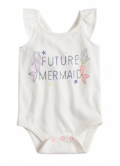 [5-8kg] Bodysuit Jumping Beans [Girl] - Trắng /Future Mermaid