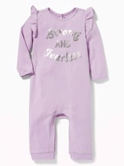 [5-6kg; 8-9kg] Sleepsuit Old Navy 22 [Girl] - Tím/Stong