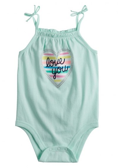 [9-14kg] Bodysuit Jumping Beans [Girl] - Xanh Ngọc/Love You
