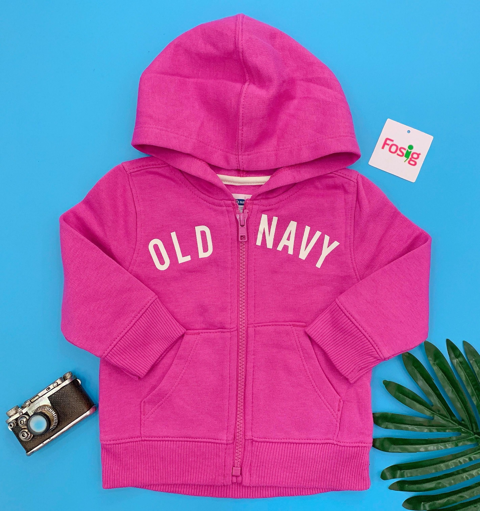 [9-17kg] Áo Khoác Old Navy [Girl] - Hồng Đậm/Old Navy