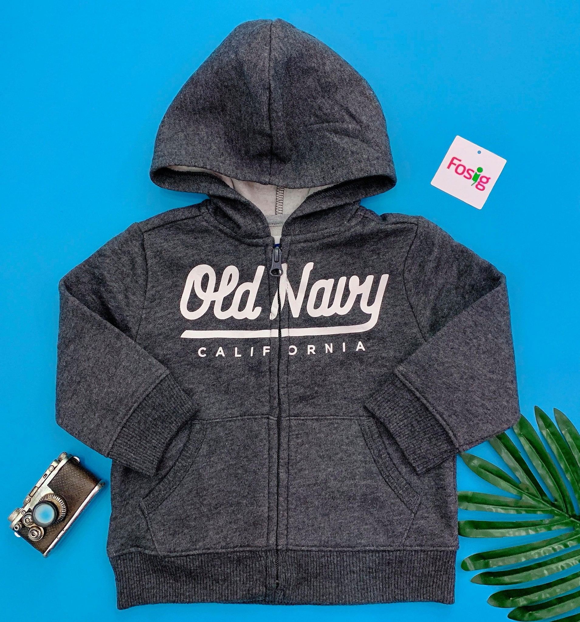 [9-17kg] Áo Khoác Old Navy [Boy] - Xám Đen/Old Navy
