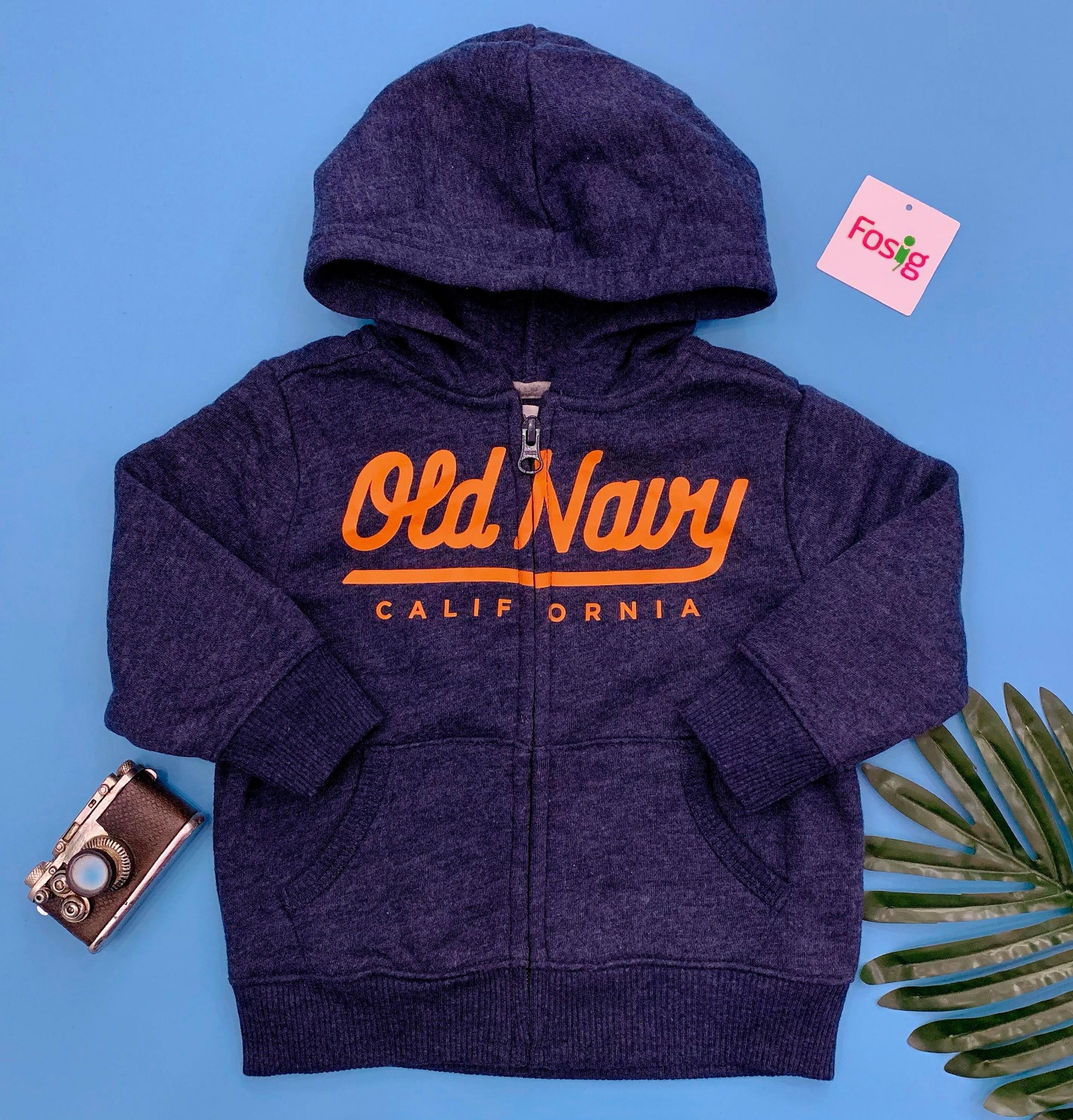 [9-17kg] Áo Khoác Old Navy [Boy] - Xanh Xám/Old Navy Cam