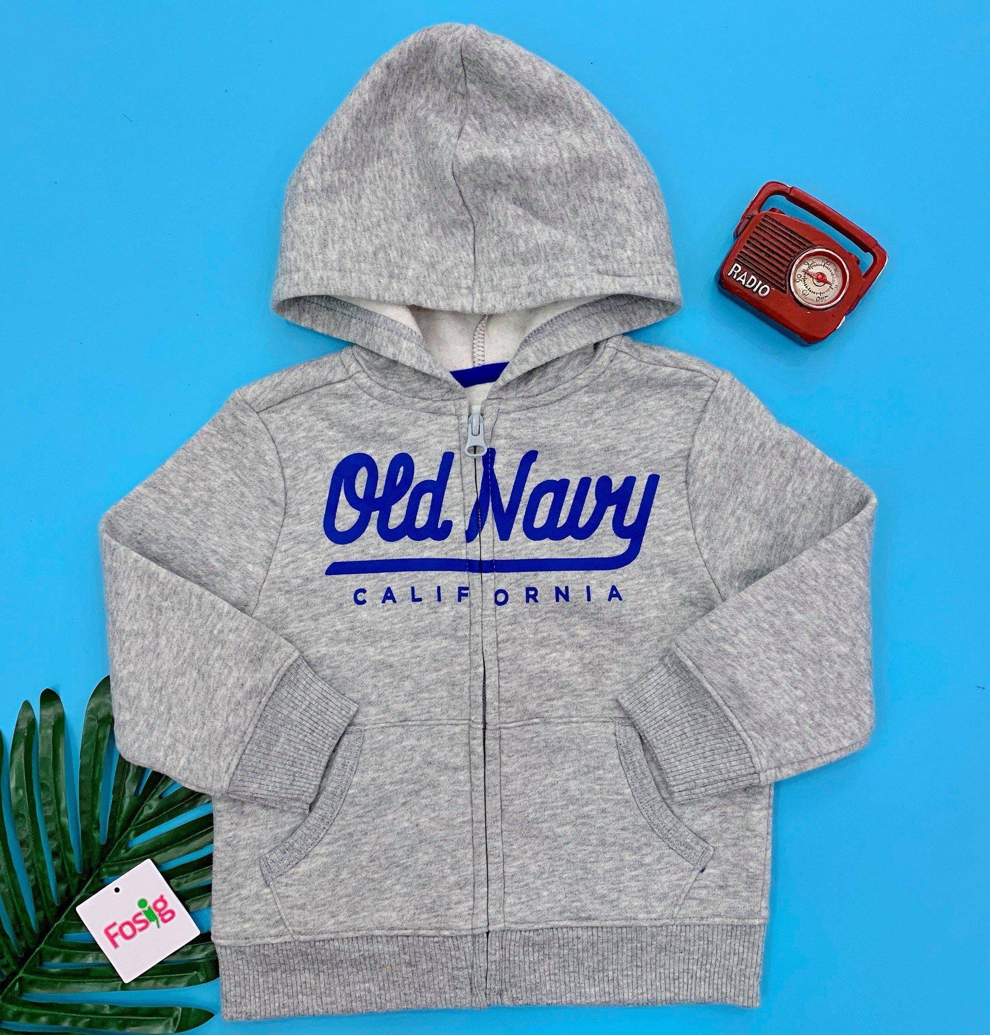 [11-17kg] Áo Khoác Old Navy [Boy] - Xám/Old Navy Xanh Dương