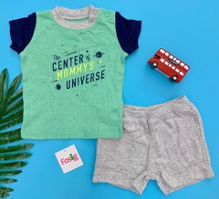 3-8kg Đồ bộ Carter's [boy] 1512 - Xanh Lá/The Center