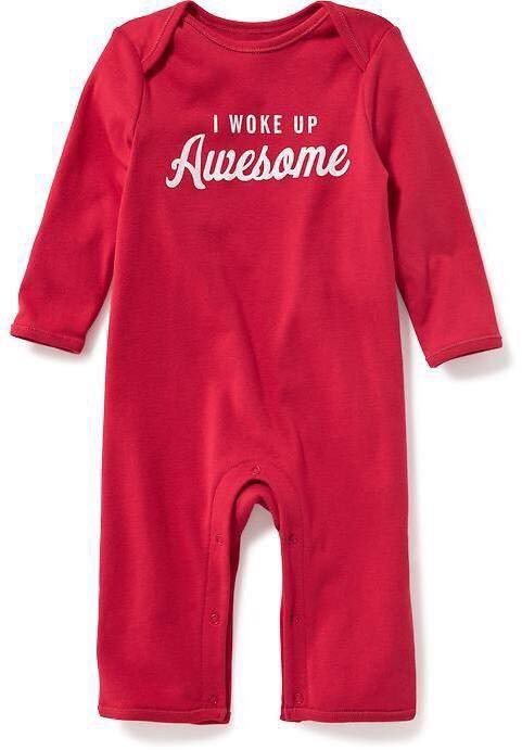 [3-6M 7-8kg] Sleepsuit Old Navy 60 [Boy] - Đỏ/Awesome