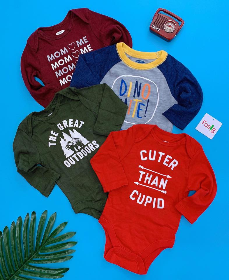[5-12kg] Set 4 Bodysuit Old Navy 66 [Boy] - Random