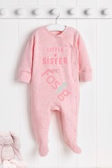 [6-7kg] Sleepsuit Next Baby 73 [Girl] - Hồng Trắng/Little Hồng