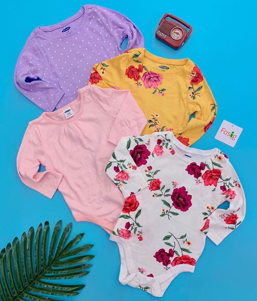[5-12kg] Set 4 Bodysuit Old Navy 66 [Girl] - Random