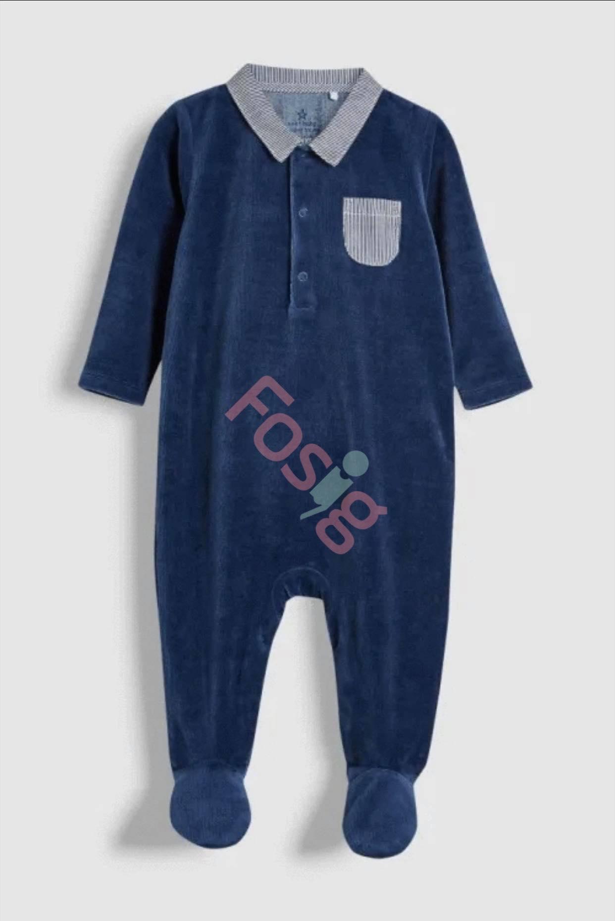 [3-14kg] Sleepsuit Next Baby 73 [Boy] - Xanh Navy/Nhung