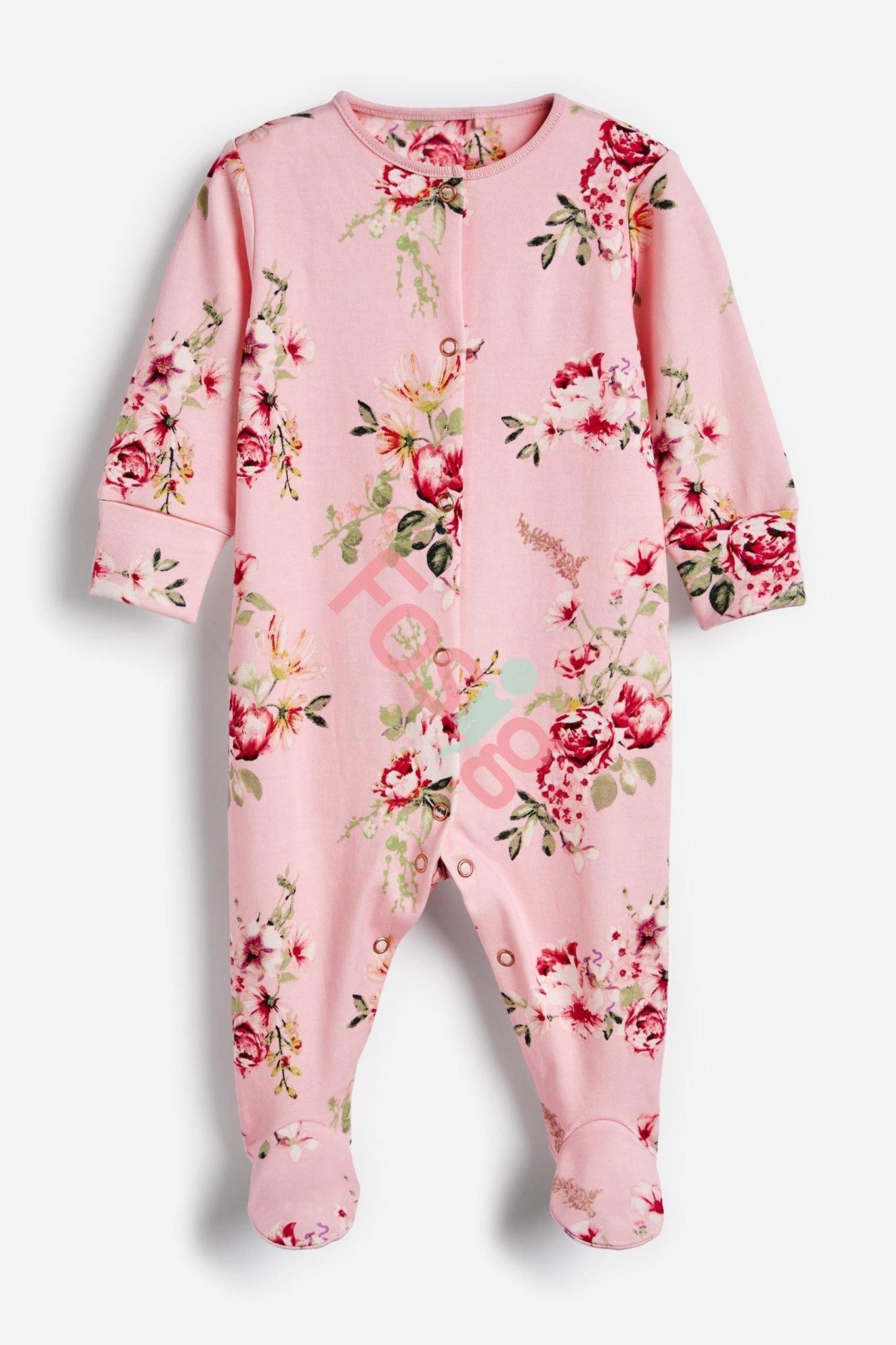 [3-10kg] Sleepsuit Next Baby 73 [Girl] - Hồng Nhạt/Hoa