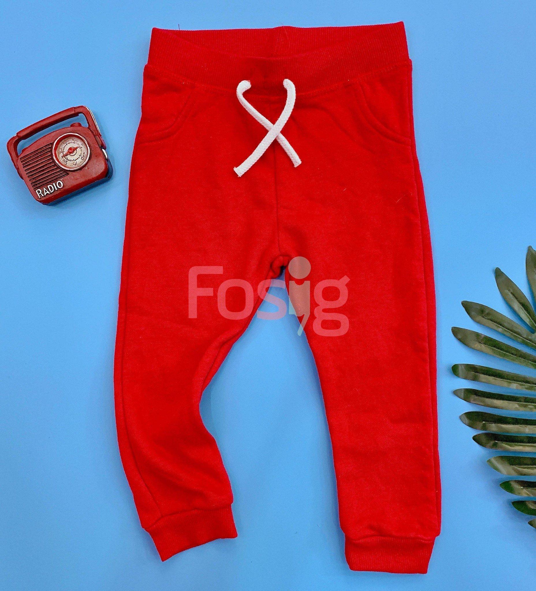 [11-14kg] Quần Jogger Primark 71 [Boy] - Đỏ Trơn