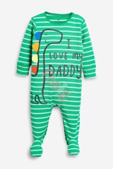 [6-7kg; 11-12kg] Sleepsuit Next Baby 73 [Boy] - Xanh Lá/Sọc I Love My