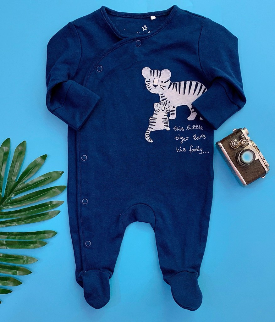 [3-7kg ] Sleepsuit Next Baby 73 [Boy] - Xanh Navy/Hổ