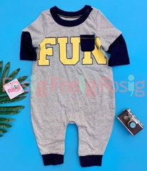 [5-14kg] Sleepsuit Baby Gap 60 [Boy] - Xám/FUN