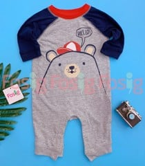 [5-12kg] Sleepsuit Old Navy 60 [Boy] - Xám/Gấu